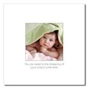Peekaboo! Square folded invitation