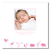 Animal silhouetto pink I