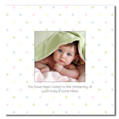 Peekaboo! dots folded invitation