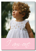 Pink portrait invite