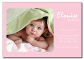 Elouise folded invitation