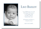Leo folded invitation