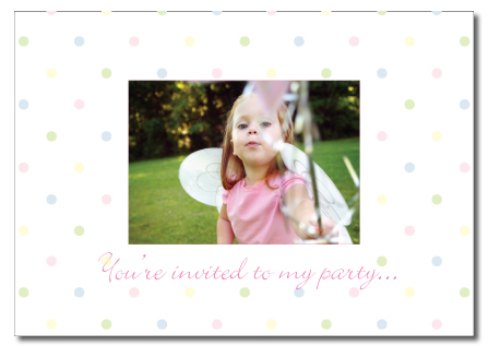 Spotty dotty invite