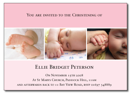 Ellie folded invitation