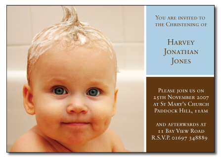 Harvey folded invitation