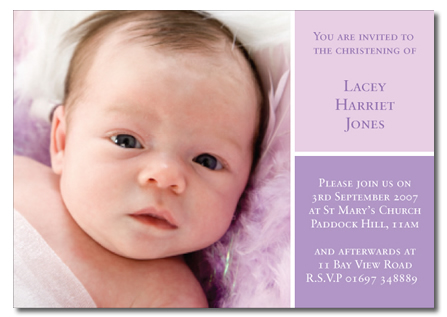 Lacey-Lilac folded invitation