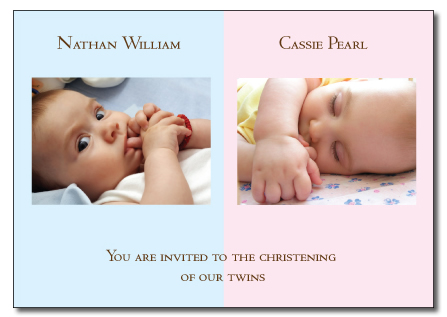 Nathan and Cassie folded invitation