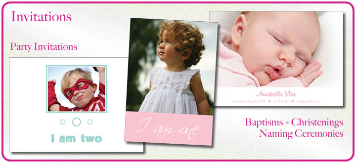 Party Invitations - Christening, Baptism, Naming Ceremony Cards